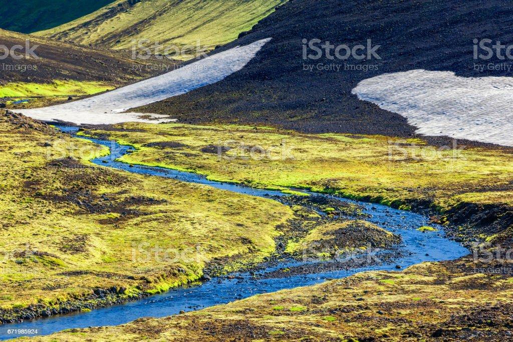 Fjallabak  National Park in Iceland stock photo