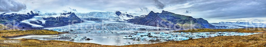 Fjallsarlon Glacier Lagoon in Iceland stock photo