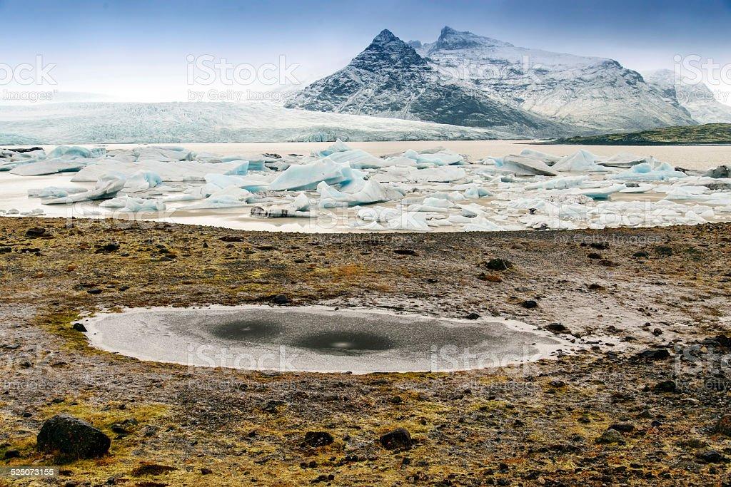 Fjallsarlon, Iceland stock photo