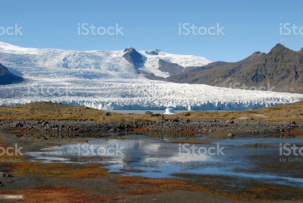 Fjallsjökull glacier,Iceland. royalty-free stock photo