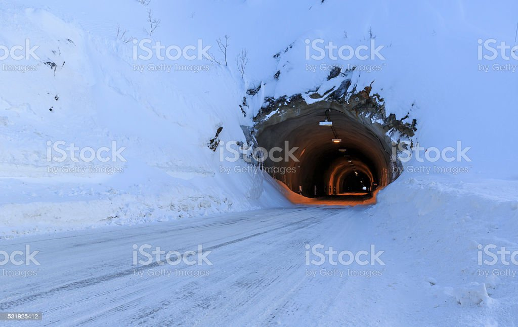 Fjellsend-tunnel stock photo