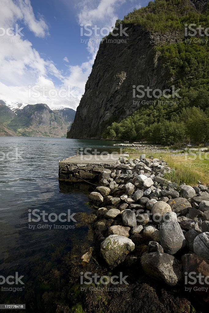 Fjord at Undredal in Norway royalty-free stock photo
