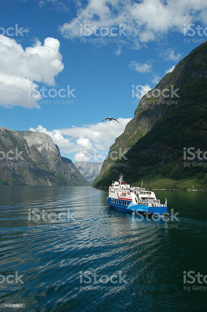 Fjord cruise royalty-free stock photo