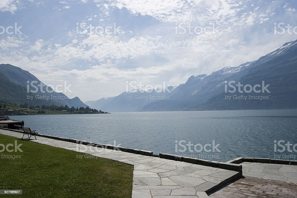 Fjord in Norway royalty-free stock photo