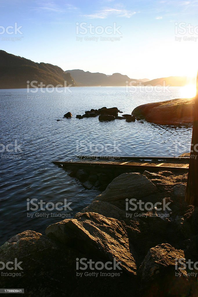 Fjord in Winter royalty-free stock photo