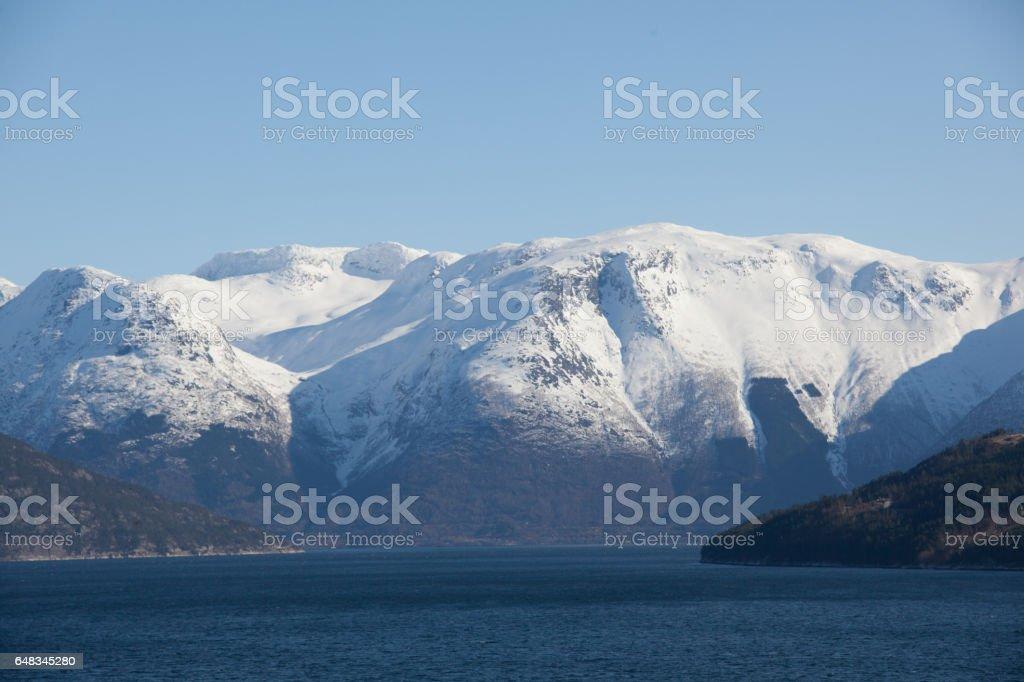 Fjord Landscape stock photo