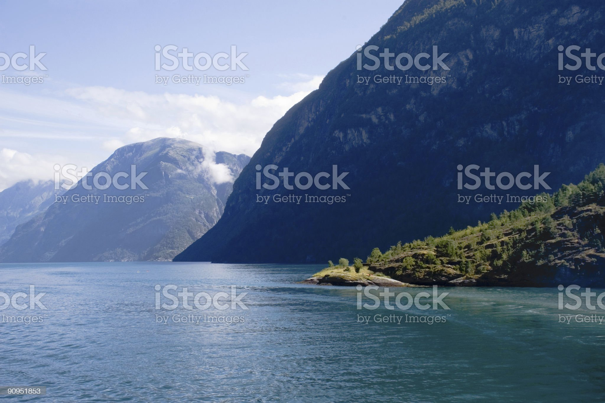 Fjord landscape royalty-free stock photo