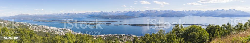 Fjord near Molde in Norway stock photo