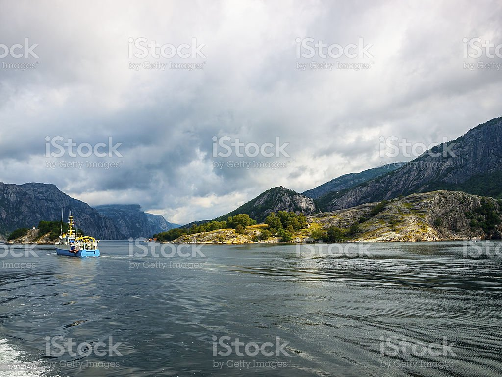 Fjord Norway royalty-free stock photo