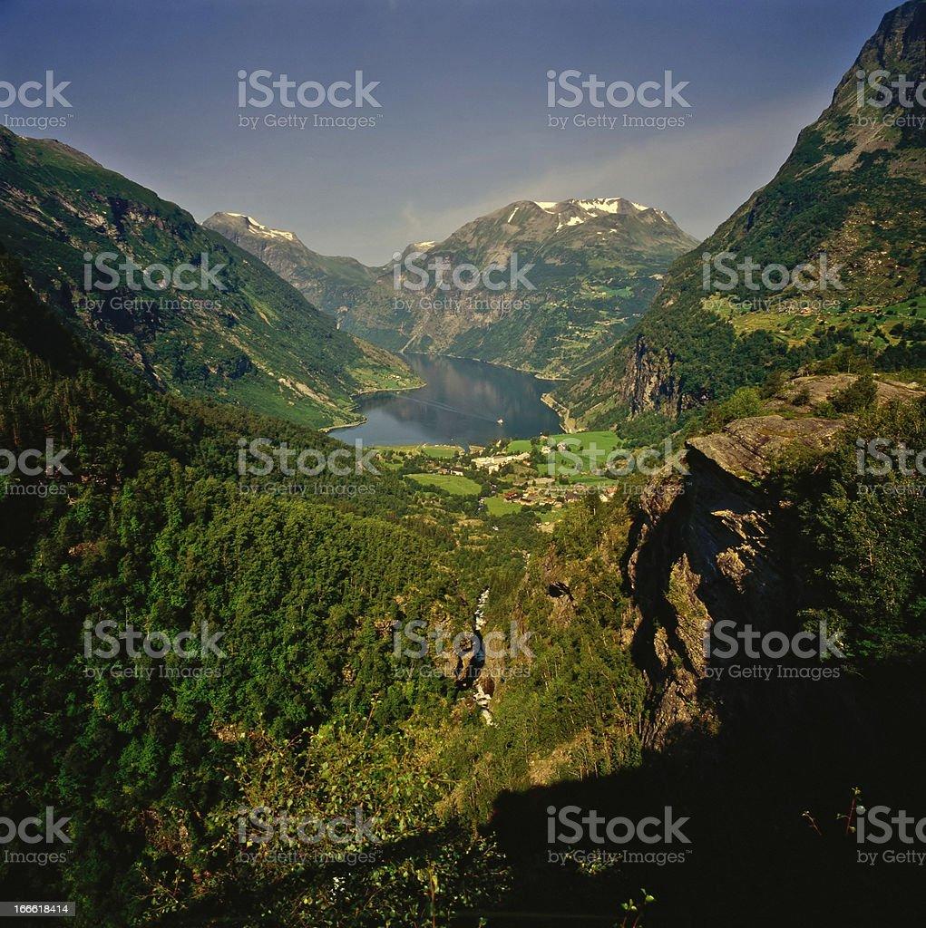 Fjord royalty-free stock photo