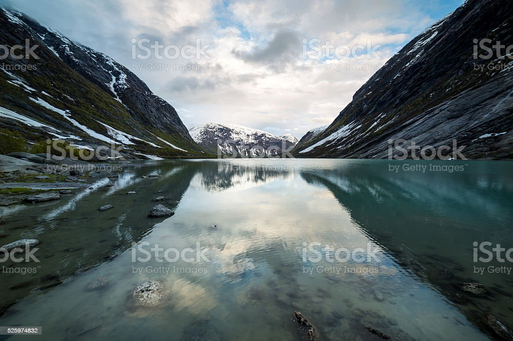 Fjord Reflection stock photo