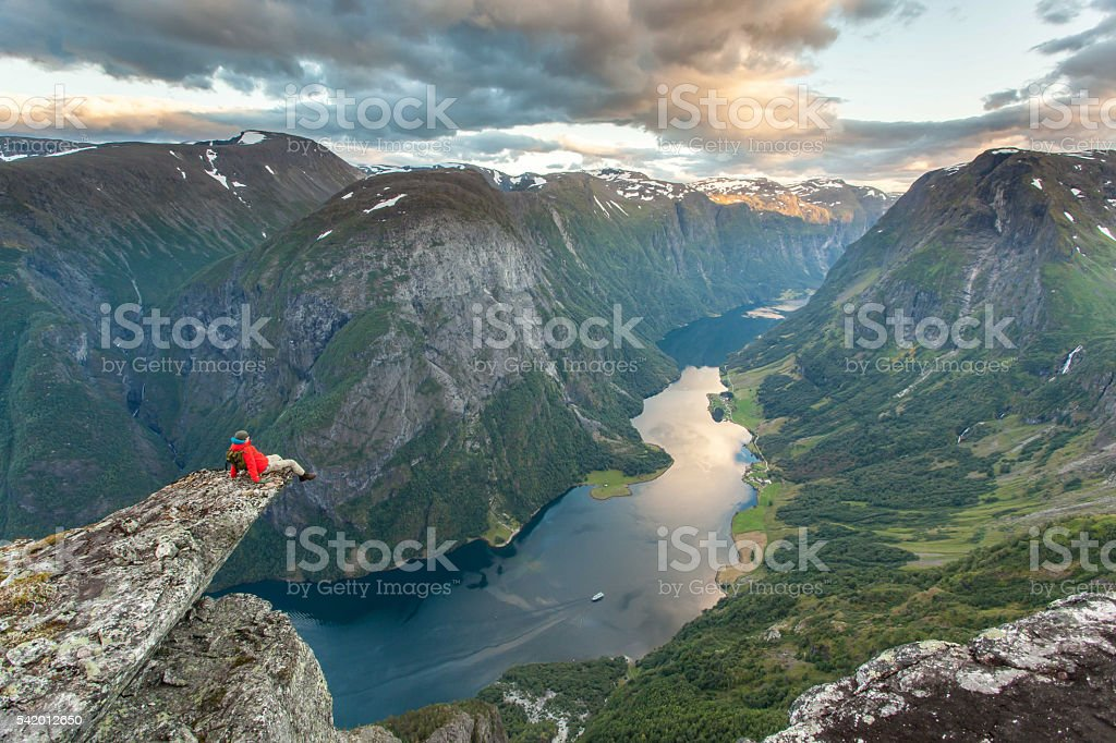 Fjord view,Norway stock photo