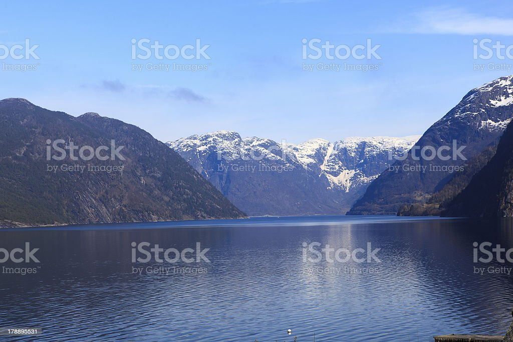 Fjords and mountains royalty-free stock photo