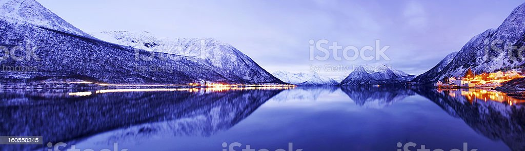 Fjords in Norway during the winter stock photo