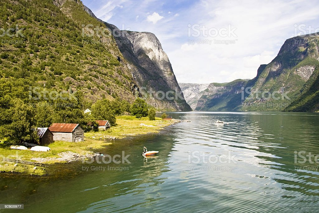 Fjords in Norway royalty-free stock photo