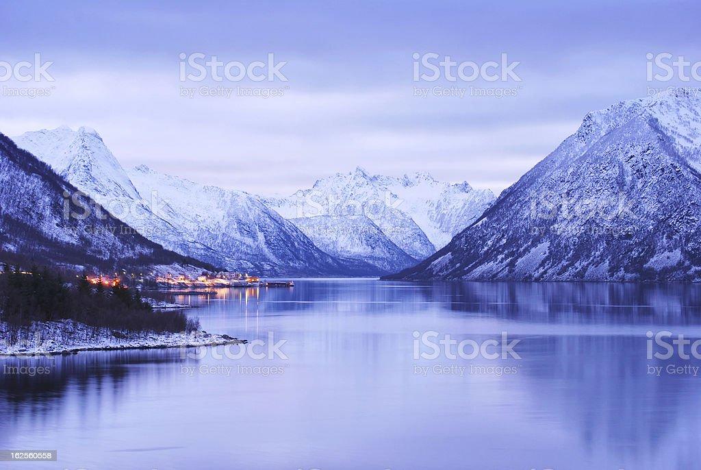 Fjords in Senja stock photo