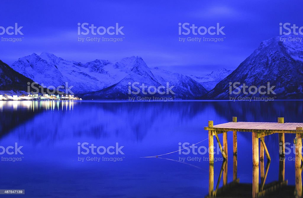 Fjords landscape stock photo