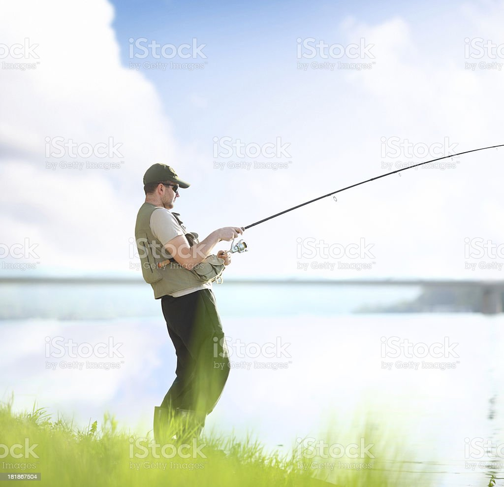 Fky fishing. royalty-free stock photo