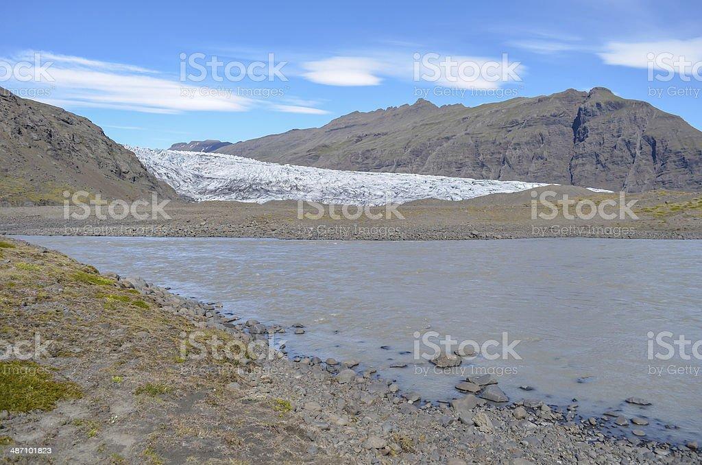 Flaajokull glacier stock photo