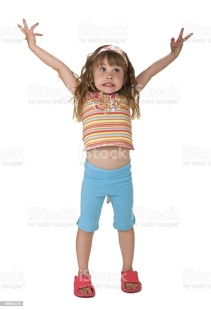 Flabbergasted Little Girl stock photo