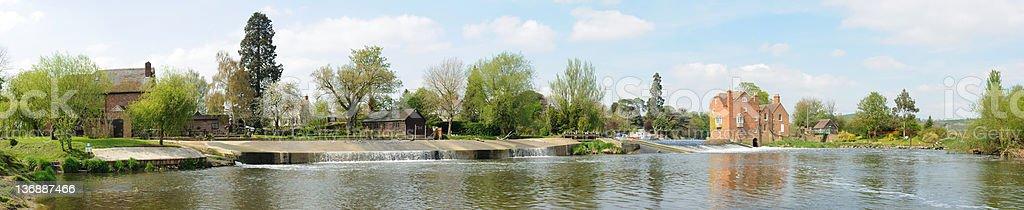 Fladbury Weir stock photo
