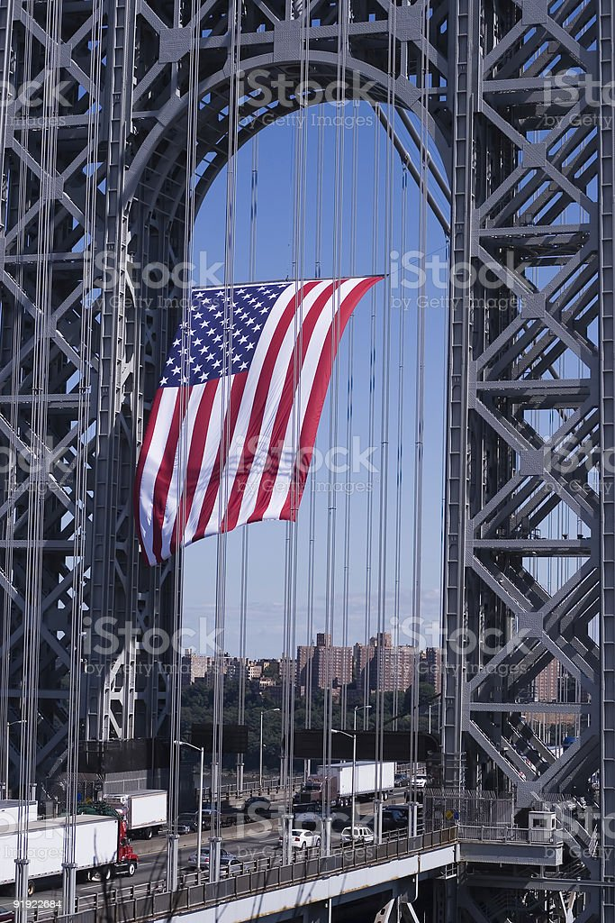 GWB Flag - 3 royalty-free stock photo