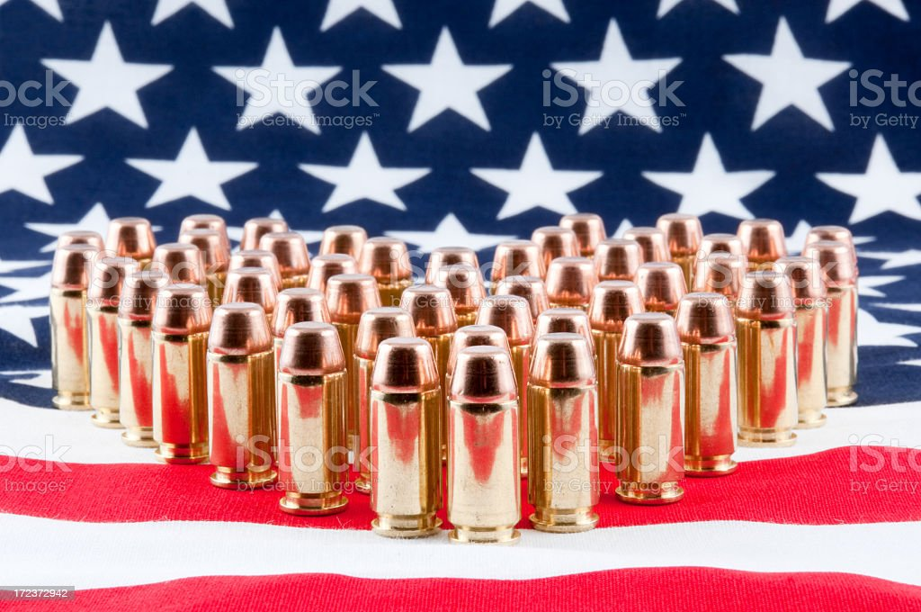 USA Flag and Bullets royalty-free stock photo
