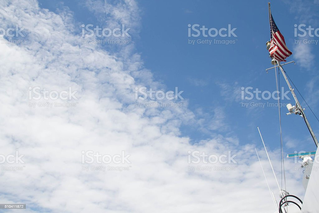 Flag and sky stock photo