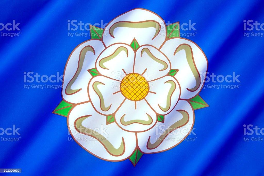 Flag and symbol of Yorkshire - United Kingdom stock photo