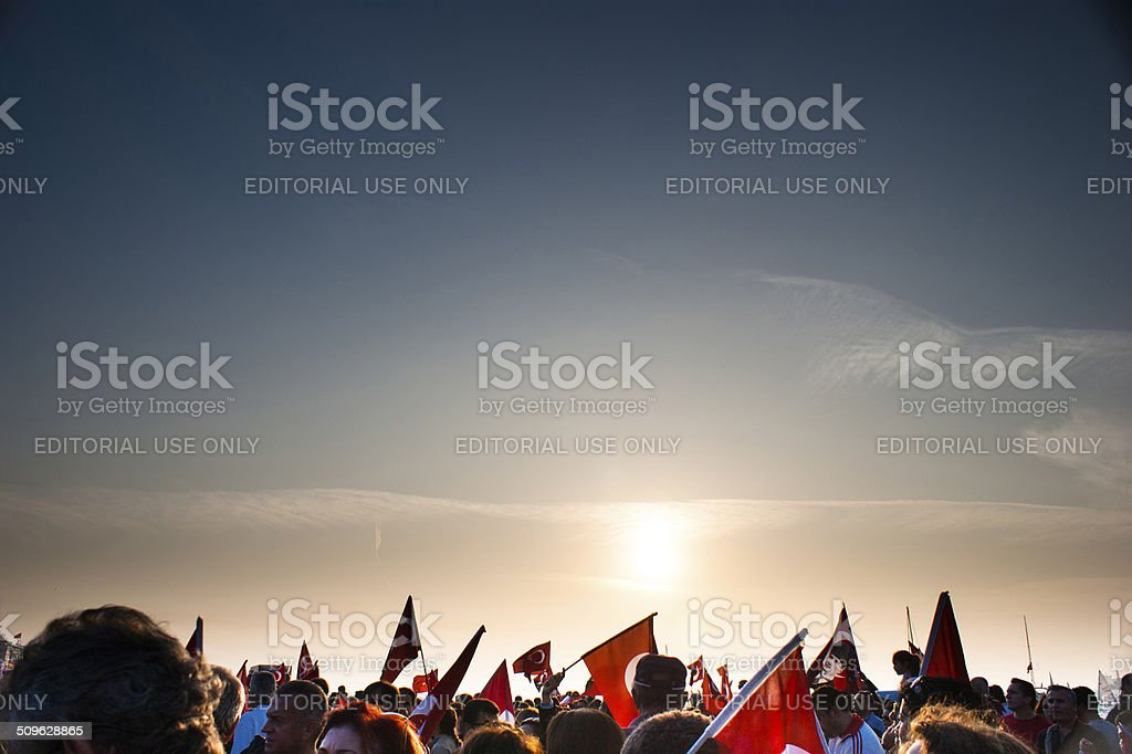 Flag and woman stock photo