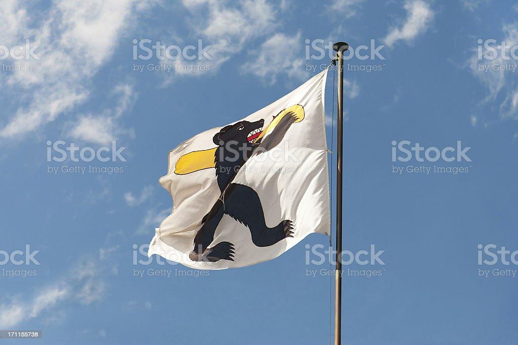Flag Appenzell Innerrhoden stock photo