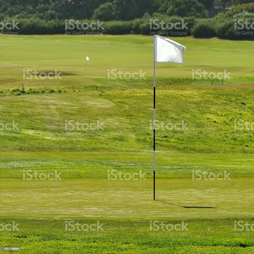 Flag at golf field royalty-free stock photo