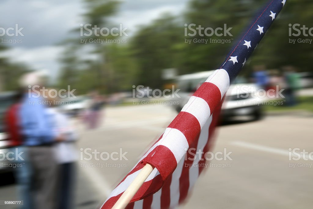 Flag at roadside royalty-free stock photo