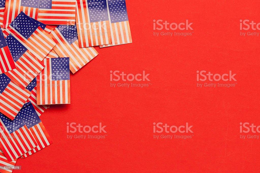 US Flag Background stock photo