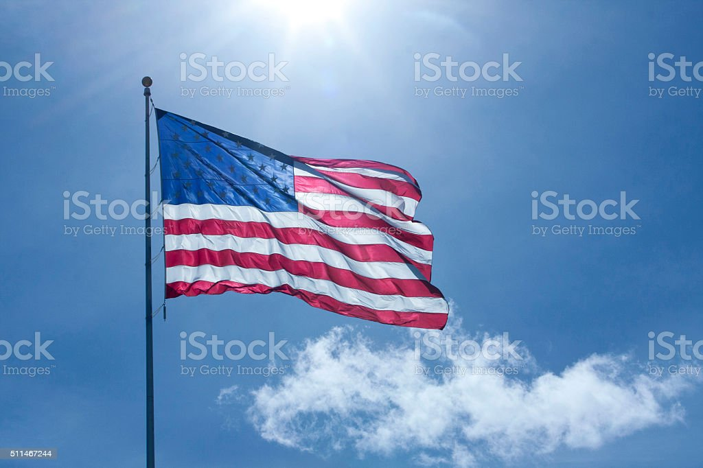 Flag, Back-lit stock photo