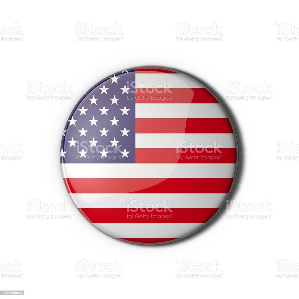 USA flag badge stock photo