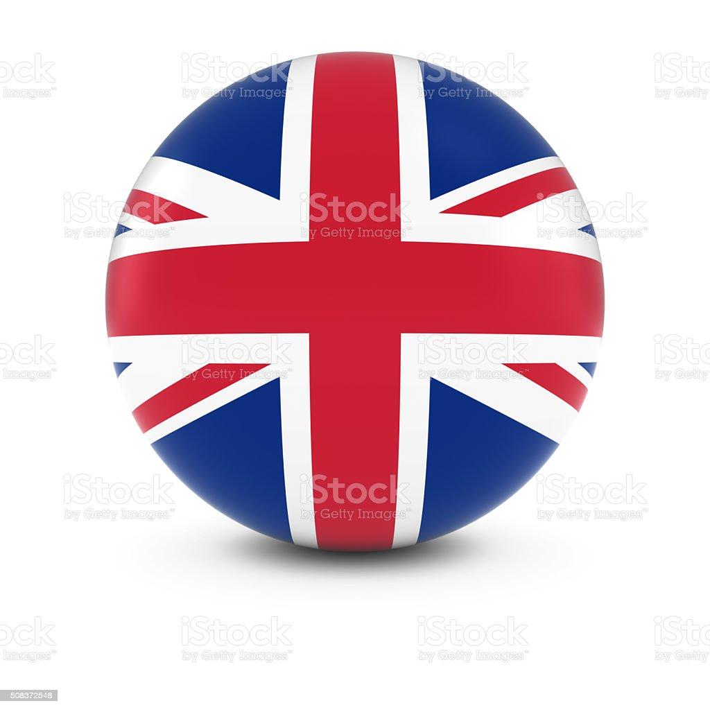 UK Flag Ball - Flag of the United Kingdom Sphere stock photo