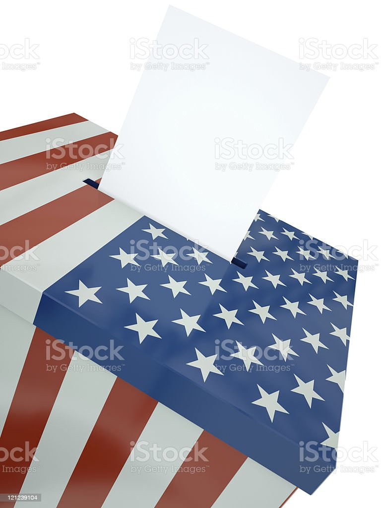 US flag ballot box royalty-free stock photo