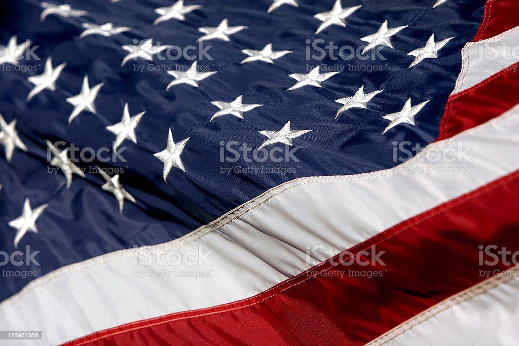 USA Flag Billowing 2 stock photo