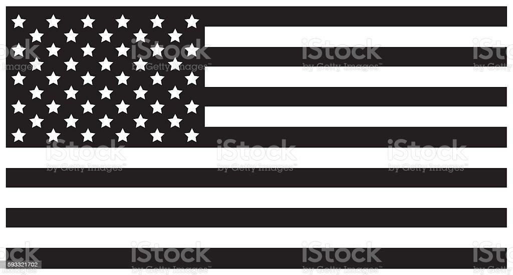 USA Flag Black stock photo