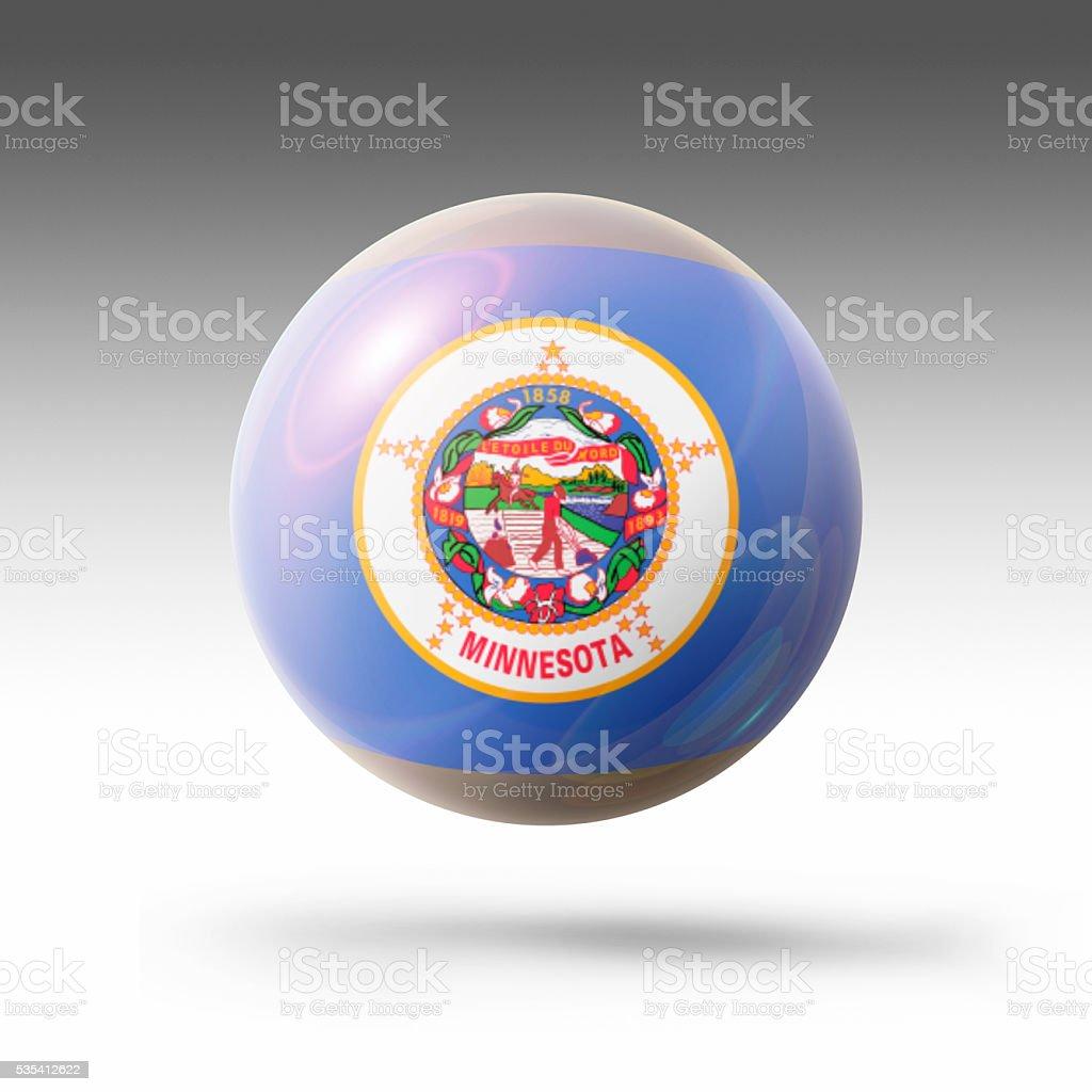Flag Bubble of Minnesota stock photo