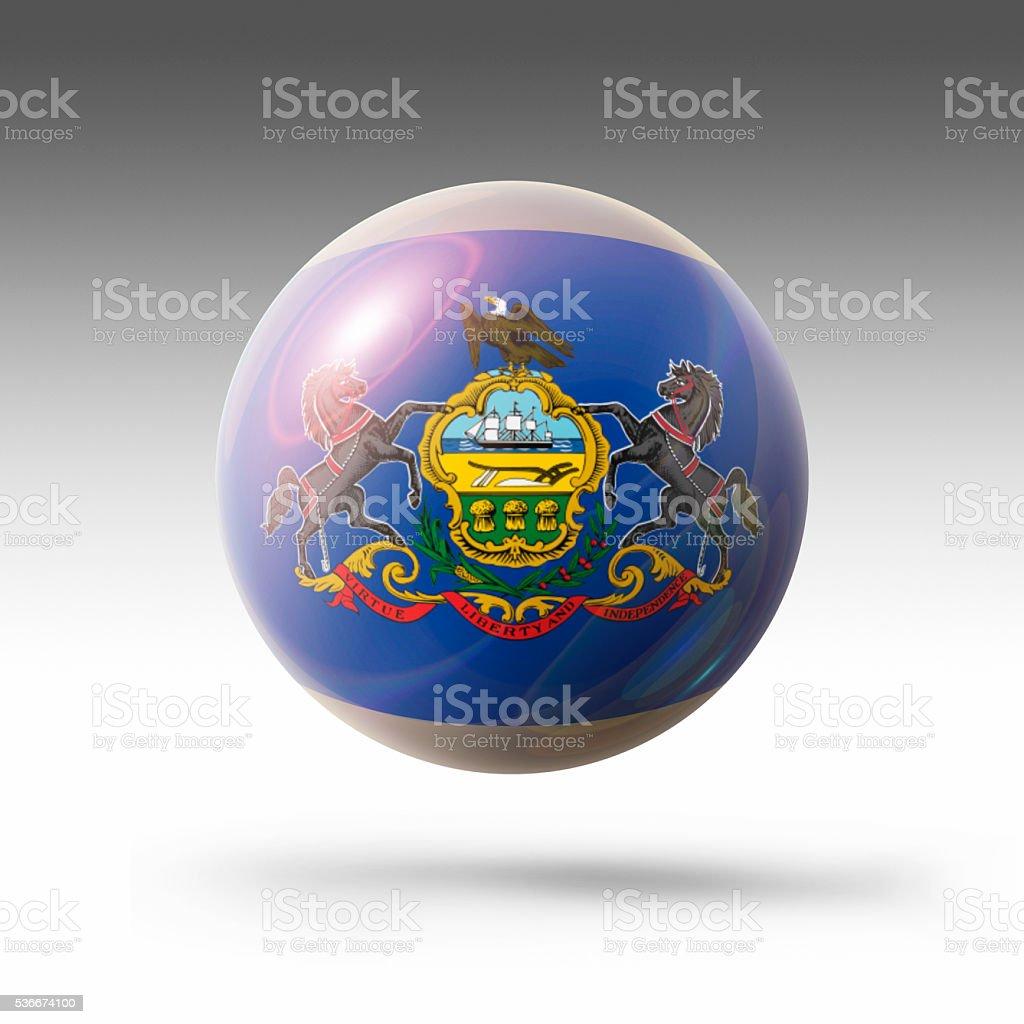 Flag Bubble of Pennsylvania stock photo