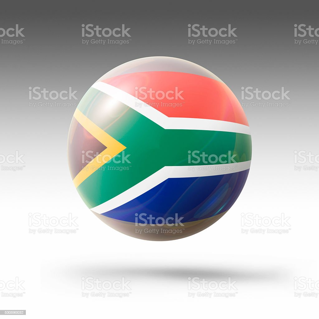 Flag Bubble of South Africa stock photo