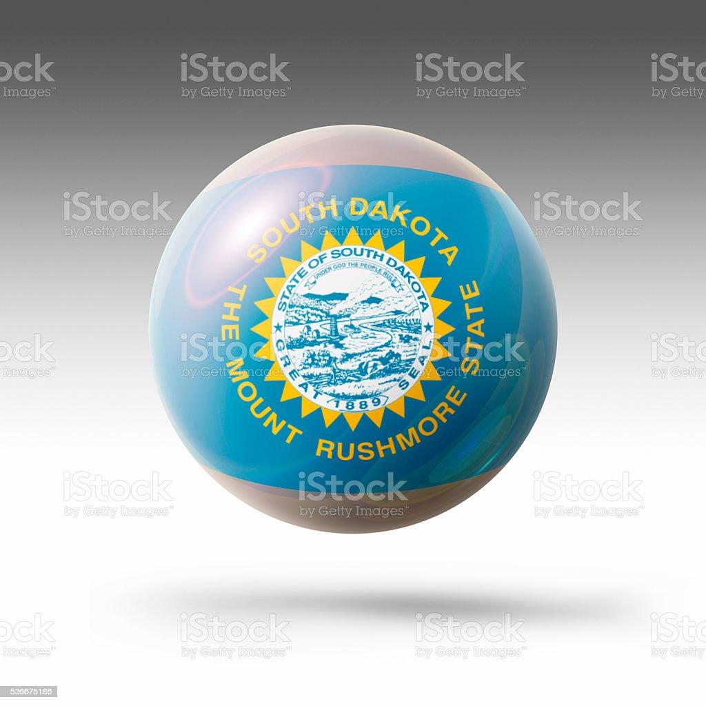Flag Bubble of South Dakota stock photo