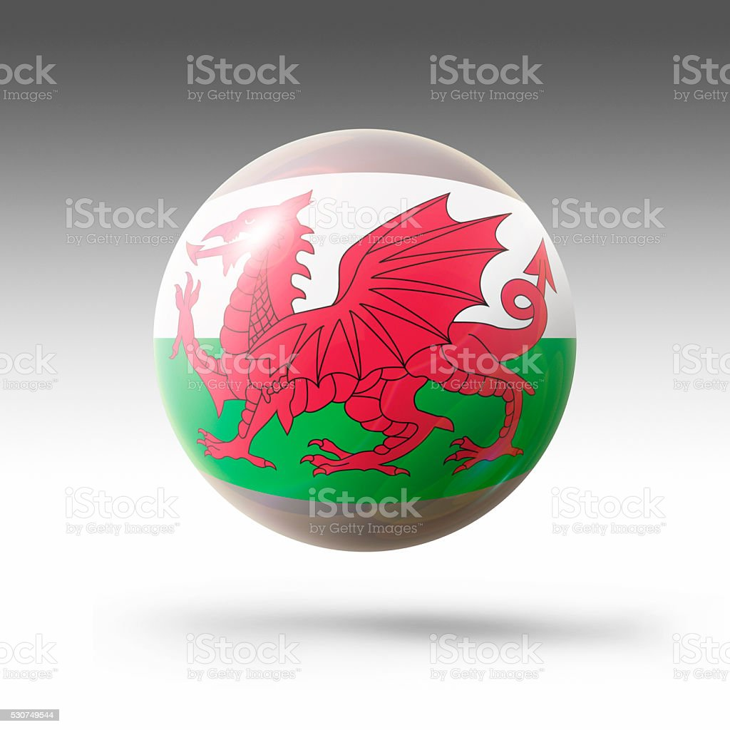 Flag Bubble of Wales. stock photo