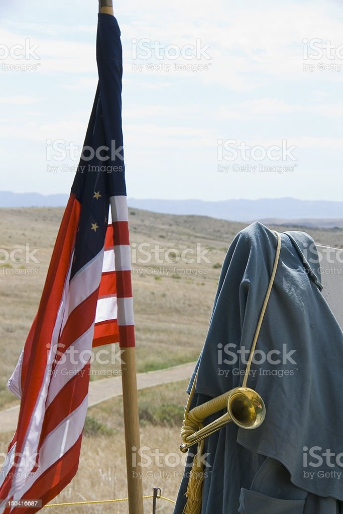 Flag & Bugle royalty-free stock photo