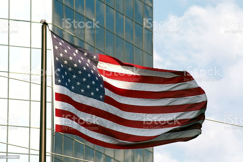 Flag & Building 1 royalty-free stock photo