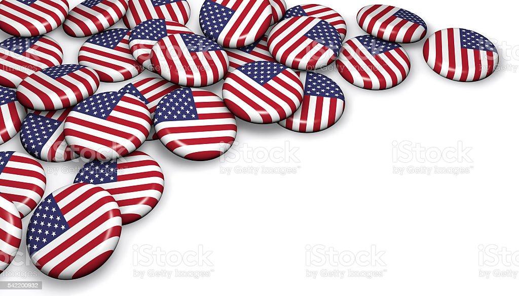 USA Flag Button Badges stock photo