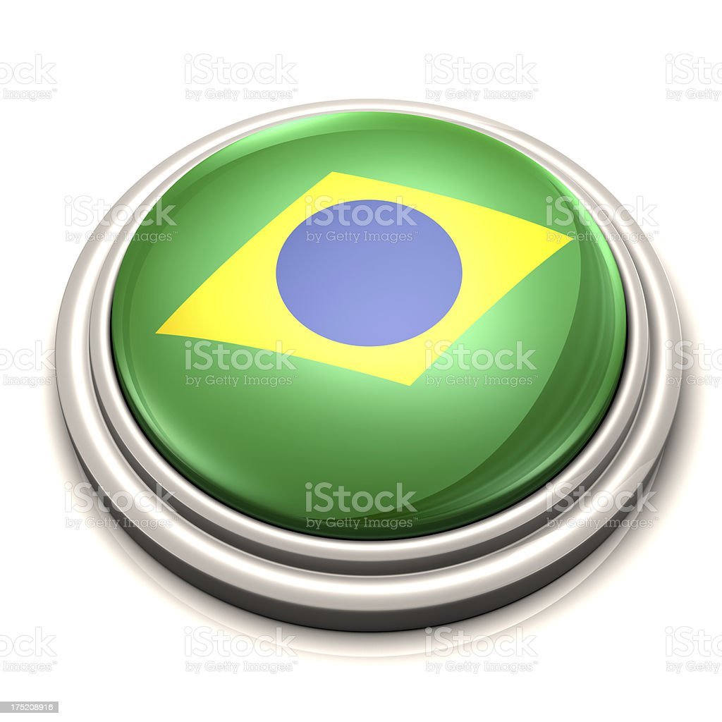 Flag Button - Brazil stock photo