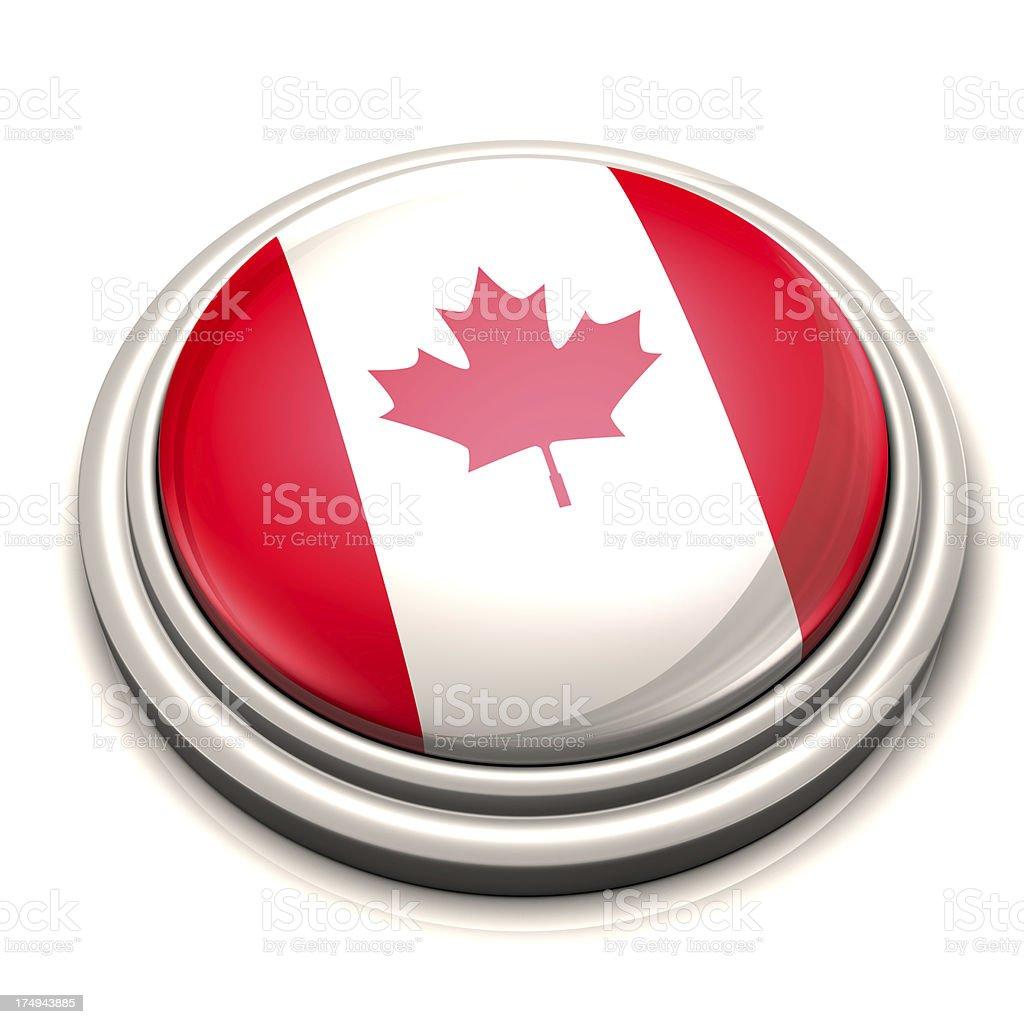Flag Button - Canada stock photo